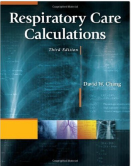 Respiratory Care Calculations, 3rd Edition