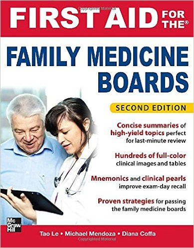 First Aid for the Family Medicine Boards, Second Edition 2nd Edition