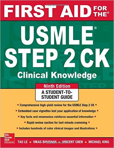 First Aid for the USMLE Step 2 CK, Ninth Edition  9th Edition