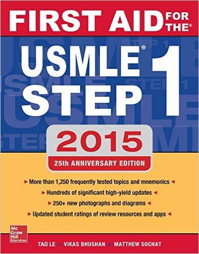 First Aid for the USMLE Step 1 2015 25th Edition