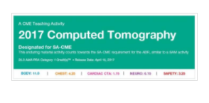 2017 Computed Tomography - A Video CME Teaching Activity