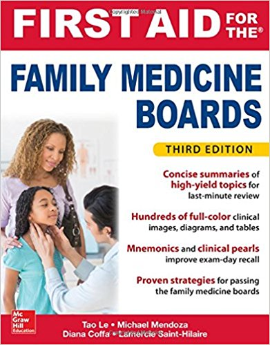 First Aid for the Family Medicine Boards, Third Edition (1st Aid for the Family Medicine Boards) 3rd Edition PDF