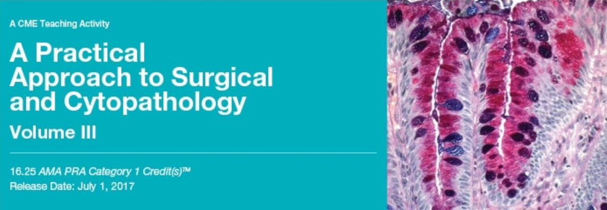 A Practical Approach to Surgical and Cytopathology Vol. III - A Video CME Teaching Activity PDF & VIDEO 2019