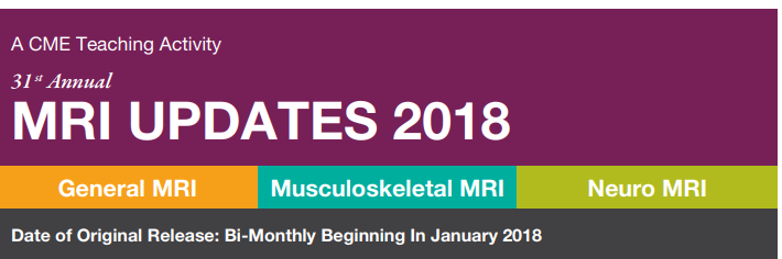 Musculoskeletal MRI Updates 2018 - A DVD Teaching Activity