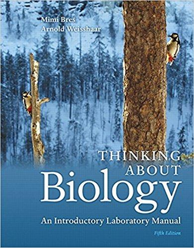 Thinking About Biology An Introductory Laboratory Manual 5th Edition