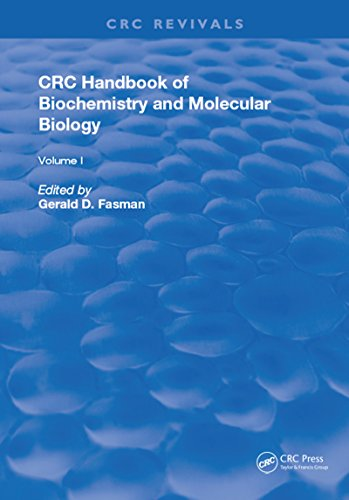 Handbook of Biochemistry: Section D Physical Chemical Data, Volume I