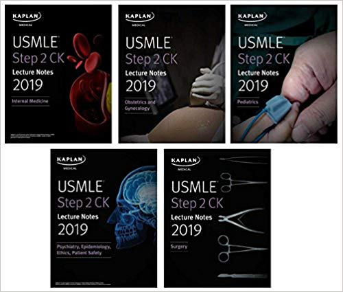 2019 USMLE Step 2 CK Lecture Notes : 5-book set (Kaplan Test Prep) 1st Edition PDF Free download