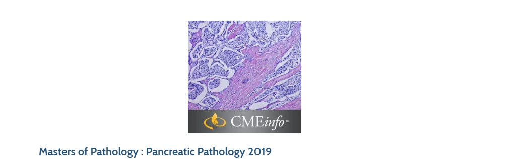 Masters of Pathology : Pancreatic Pathology 2019