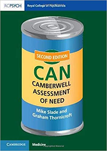 Camberwell Assessment of Need (CAN) 2nd Edition PDF